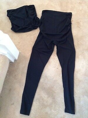 Geoge Maternity Leggings And Top Set Size 8.