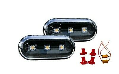 VW T5 Transporter Multivan Clear Black LED Side Indicators Repeaters Canbus Set