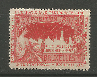 Belgium/Brussels 1897 International Exposition poster stamp/label (H)