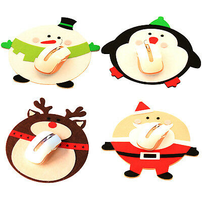 New Cartoon Nonwovens Mouse Pad For Gaming Anti-Slip Christmas Mouse Pad Newly