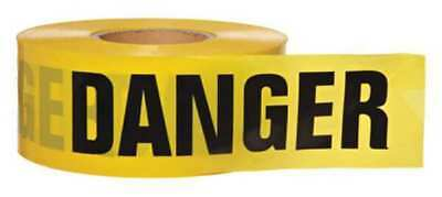 Barricade Tape,Yellow/Black,1000ft x 3In
