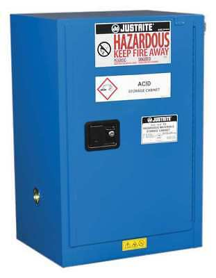 Haz Material Safety Cabinet,12 Gal,Blue JUSTRITE 861228