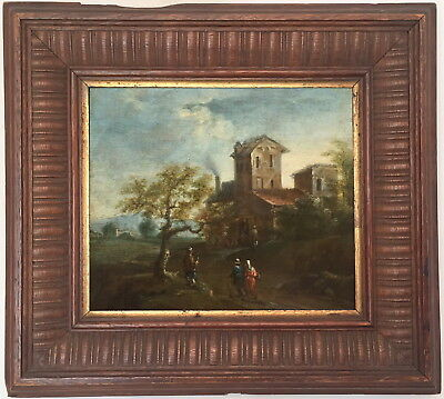 Landscape Antique Old Master Oil Painting 18th Century Dutch / German School