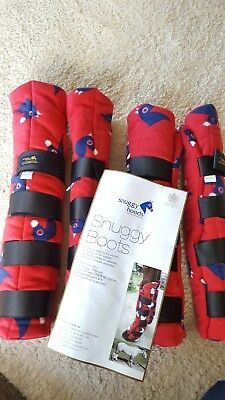 Snuggy hoods horse travel / stable boots BNWT large