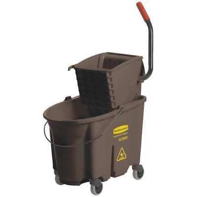 WaveBrake Mop Bucket and Wringer,35 qt.,Brown RUBBERMAID FG758088BRN