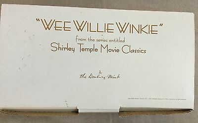 """Danberry Mint 10"""" porcelain Shirley Temple Wee Willie Winkle mint in box 1999"""
