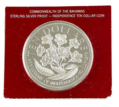 1976 Commonwealth of The Bahamas Sterling Silver Proof Ten Dollar Coin