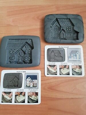 Pair Clay Moulds Craft Card Making Crafting