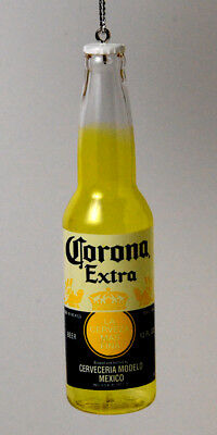 Beer Drinkers! Corona Extra Beer Bottle Made In Mexico Christmas Ornament New