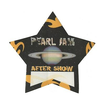 Pearl Jam Yellow Aftershow Backstage Pass 2000 Binaural Tour