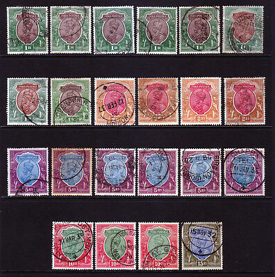 INDIA. 1911. 1R to 15R, USED SELECTION.