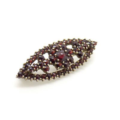 90% Silver and Ruby coloured stone set Costume Pin