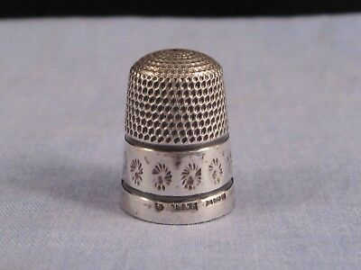Old English Sterling Silver Vintage Sewing Craft Thimble