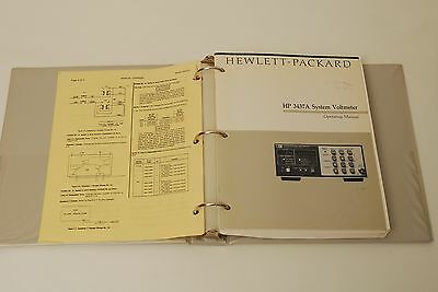 Manuals for Hewlett Packard 3437A System Voltmeter
