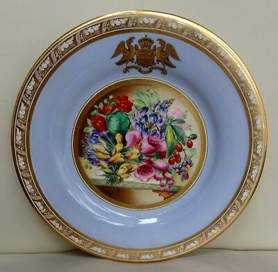 High Quality Hand Painted Mid 19th C Worcester Kerr and Binns Porcelain Plate