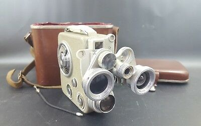 VINTAGE EUMIG C3 CINE CAMERA 8mm film Included Case Untested EUMICRON LENS