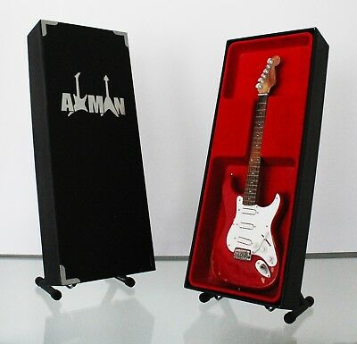 Miniature Guitar Replica: Gary Moore Red Stratocaster by Axman (UK Seller)