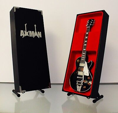 Miniature Guitar Replica: Neil Young Black Les Paul by Axman (UK Seller)