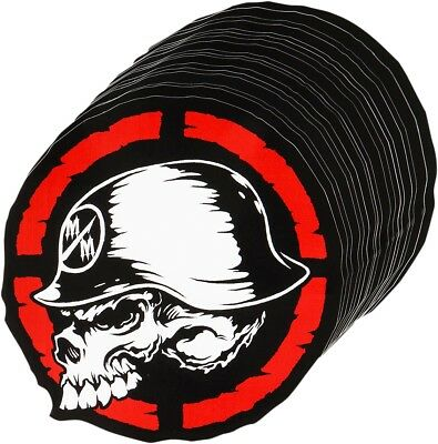 METAL MULISHA M42589444BLK Quartered Sticker 4""