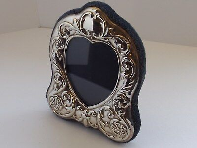 Carrs Solid Silver Heart Shaped Photo Frame Hallmarked Sheffield 1997