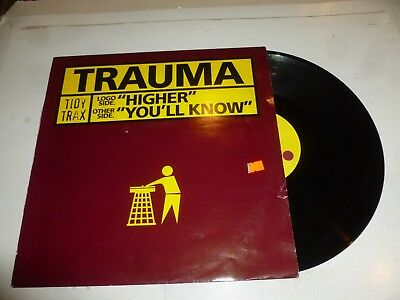 "TRAUMA - Higher - 1998 UK 2-track 12"" Vinyl Single"