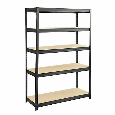 Safco Boltless Steel and Particleboard Shelving Unit 6246BL 48-in x 18-in
