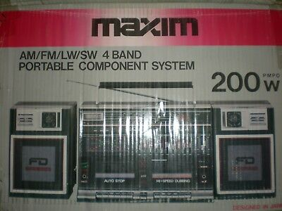 ** Vintage **  Maxim Mx-939 Ghettoblaster Boombox Brand New In Box