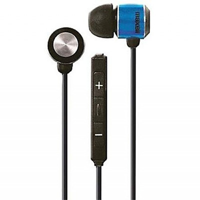 Maxell Jinx Earbuds with Microphone, Black and Blue (196129)