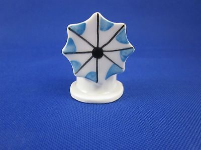 Miniature Windmill with Blue Sails Souvenir Made in Greece