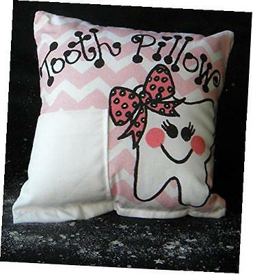 pink chevron tooth fairy pillow with tooth fairy dust