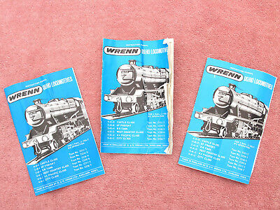 Wrenn: Three Loco Instruction Manuals - For Various Locos - Some Need Tidying