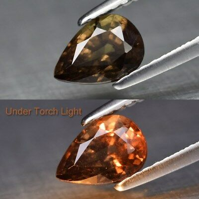 1.08ct 7.3x5.2mm Pear Natural Unheated Color Change Garnet, Africa
