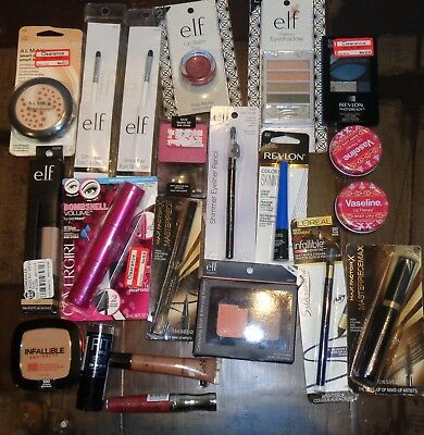 Lot of NEW Makeup Vaseline Lip  Eye sponge Mascara liquid eyeliner blush