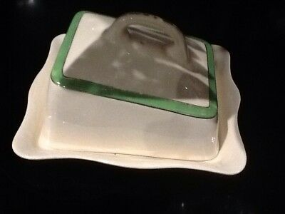 butter dish antique Ivory England .