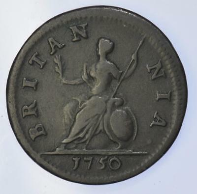 George II - 1750 Farthing - high grade