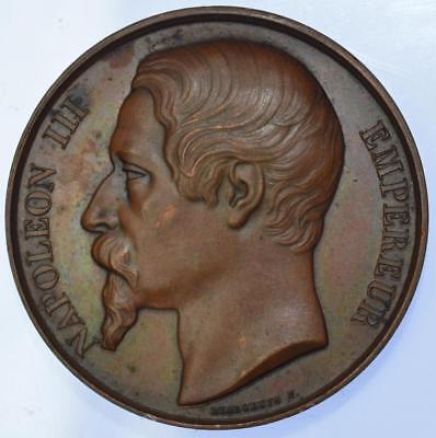 France - Napoleon III 1856 Visit to Mettray Penal colony medal by Caque