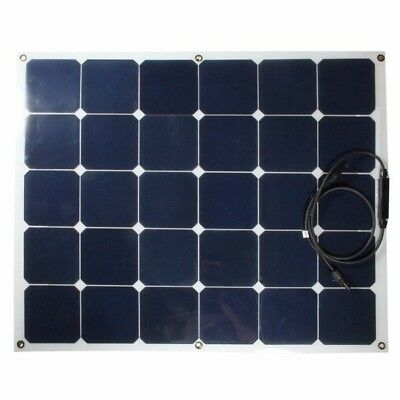 100W 18V Semi-Flexible Solar Panel For RV Boat Home Camping Battery Charger