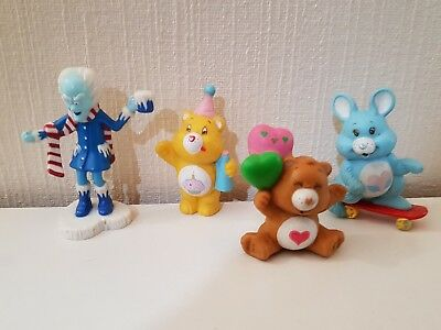 4 figurines Bisounours Vintage 1984 Carebears Care bears  Kenner