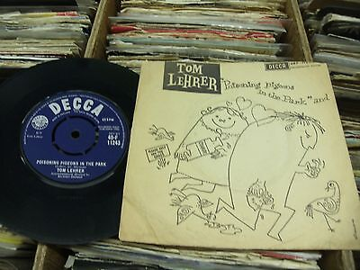"""Tom Lehrer""""poisoning Pigeons In The Park""""/""""masochism Tango""""1960 Decca+Pic.cover."""
