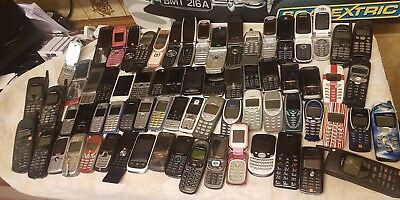 job lot bundle 71 old mobile phones 100% untested spares repairs resale scrap