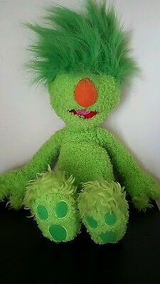 "The Hoobs Tomy 2001  ""groove"" Green Toy Jim Henson Soft Toy Muppet Does Not Talk"