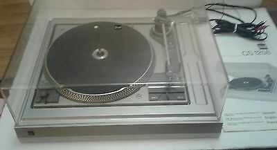 Vintage DUAL CS-1258 Turntable with Cover - Made in Germany Original Manual