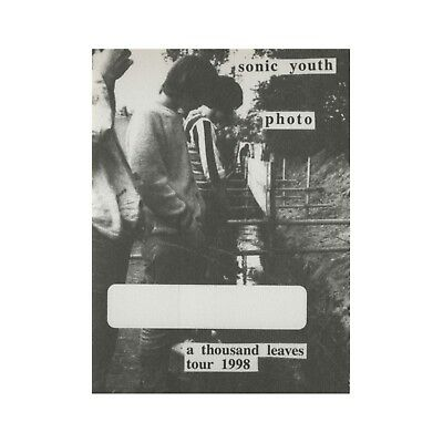 Sonic Youth authentic Photo 1998 tour Backstage Pass