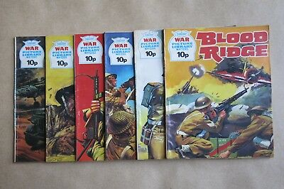 6 x FLEETWAY COMICS, WAR PICTURE LIBRARY - # 1290, 1291, 1292, 1293, 1294 & 1295