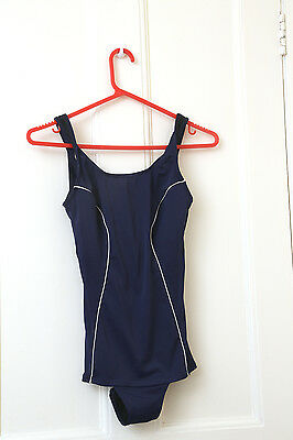 Vintage blueswimming costume  swimsuit by BHS 1960s Size 10 /12 VGC