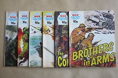 6 x FLEETWAY COMICS, WAR PICTURE LIBRARY - # 1316, 1318, 1320, 1323, 1328 & 1330
