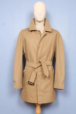 Stunning Mens BURBERRY Single Breasted Short TRENCH Coat Mac Beige Size L/XL