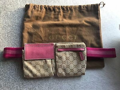 Authentic Gucci Pink Waist Bag Small