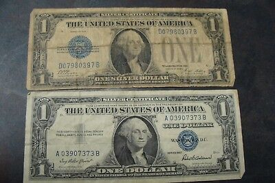 """Lot: 1928 A """"Funny Back"""" and 1957 $1 Silver Certificates - Must See!!!"""