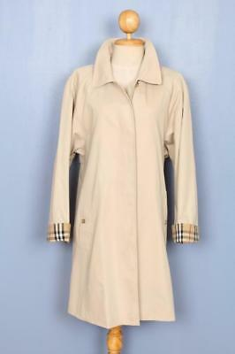 BEAUTIFUL Womens BURBERRY Single Breasted Short TRENCH Coat Mac Beige 16/18